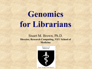 Genomics for Librarians