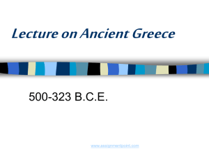 Ancient Greece - Assignment Point