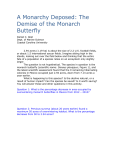 A Monarchy Deposed: The Demise of the Monarch Butterfly Daniel