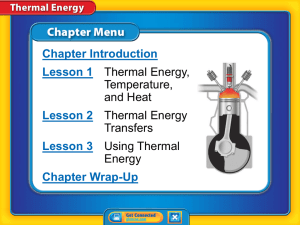 Thermal energy - geraldinescience