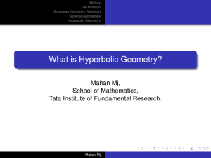 What is Hyperbolic Geometry?