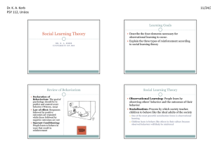 112 04 Social Learning Theory