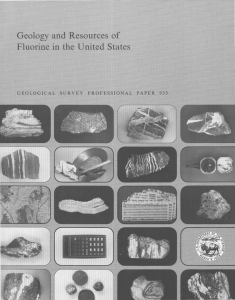 Geology and Resources of Fluorine in the United States