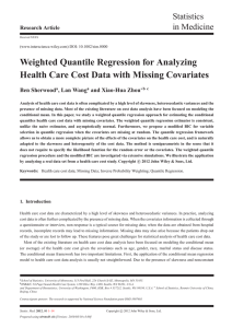 Weighted Quantile Regression for Analyzing Health Care Cost Data