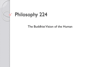 The Buddhist Vision of the Human