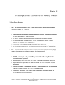 Chapter 02 Developing Successful Organizational and Marketing
