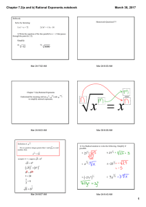 Chapter 7.2(a and b) Rational Exponents.notebook