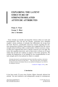 exploring the latent structure of strength‐related attitude attributes