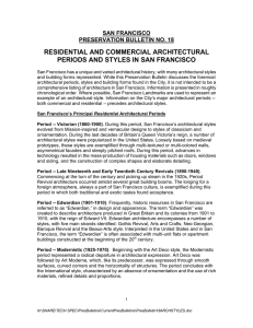 residential and commercial architectural periods and styles in san