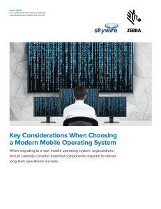 Key Considerations When Choosing a Modern Mobile Operating