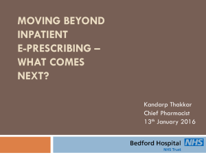 Moving Beyond Inpatient ePrescribing: What