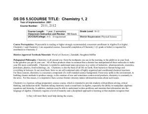 Chem Course Desc2. New