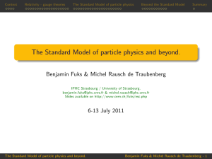 The Standard Model of particle physics and beyond.