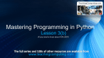 Mastering Python Programming Lesson 3(b) (FOR LOOPS)