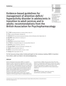 Evidence-based guidelines for management of attention