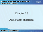 Chapter 20: AC Network Theorems