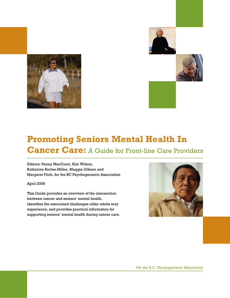 Promoting Seniors Mental Health In Cancer Care