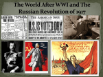 The World After WWI and The Russian Revolution of 1917
