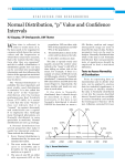 "Normal Distribution, ""p"" Value and Confidence Intervals"