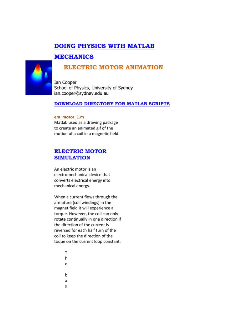 em_motor_doc - School of Physics