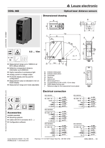 Accessories: Dimensioned drawing Electrical connection ODSL 96B