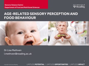Changes in Perception with Age - University of Reading, Meteorology