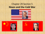 Chapter 29 Section 5 Nixon and the Cold War