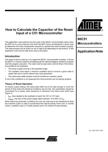 Calculating the Capacitor of the Reset Input