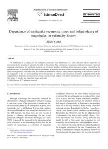 Dependence of earthquake recurrence times and independence of