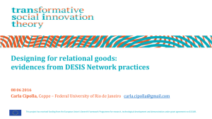 Designing for relational goods: evidences from DESIS Network
