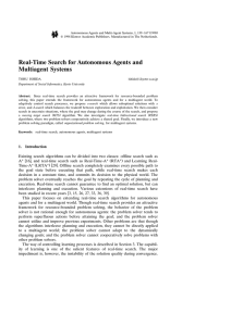 Real-Time Search for Autonomous Agents and