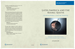 Latin America and the Rising South: Changing World, Changing