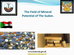 The Field of Mineral Potential of The Sudan.