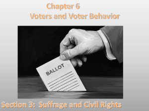 Suffrage and Civil Rights Lesson Objectives