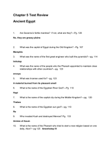 Chapter 5 test review --ancient egypt