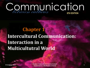 8TH EDITION Chapter 1 Intercultural Communication: Interaction in