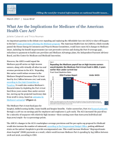 What Are the Implications for Medicare of the American Health Care