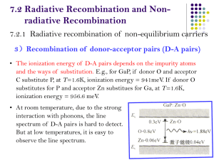 7.2 Radiative Recombination and Non