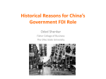 Historical Reasons for China`s Government FDI