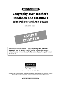 Chapter 1 from Geography 360° Teacher`s Handbook and CD
