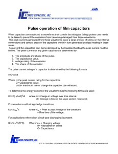 Pulse operation of film capacitors