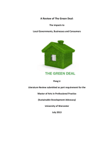 A Review of the Green Deal
