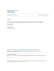 Use of Gender Aschematicity in the Reassessment of