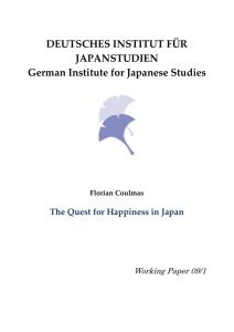 Happiness in Japan - German Institute for Japanese Studies