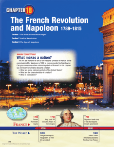 Chapter 18: The French Revolution and Napoleon, 1789-1815