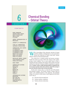 6 Chemical Bonding – Orbital Theory