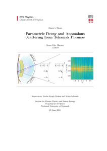 Parametric Decay and Anomalous Scattering from