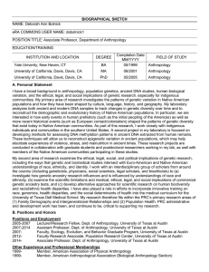 OMB No. 0925-0046, Biographical Sketch Format Page