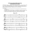 WRMS Choral Sight-Singing Examples