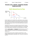 Consumer Surplus Note